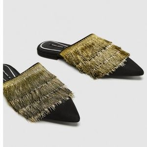 Zara mules with fringe 39 and 38
